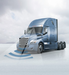 The new Freightliner Cascadia with Detroit Assurance 4.0 suite of safety systems
