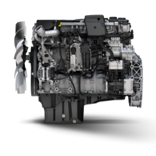 The Detroit DD8 engine offers industry-leading maintenance intervals.