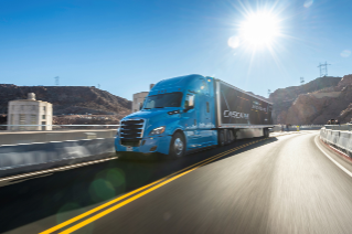 The latest enhancements to the new Cascadia deliver a 35% improvement in fuel efficiency compared to the first Cascadia introduced in 2007.