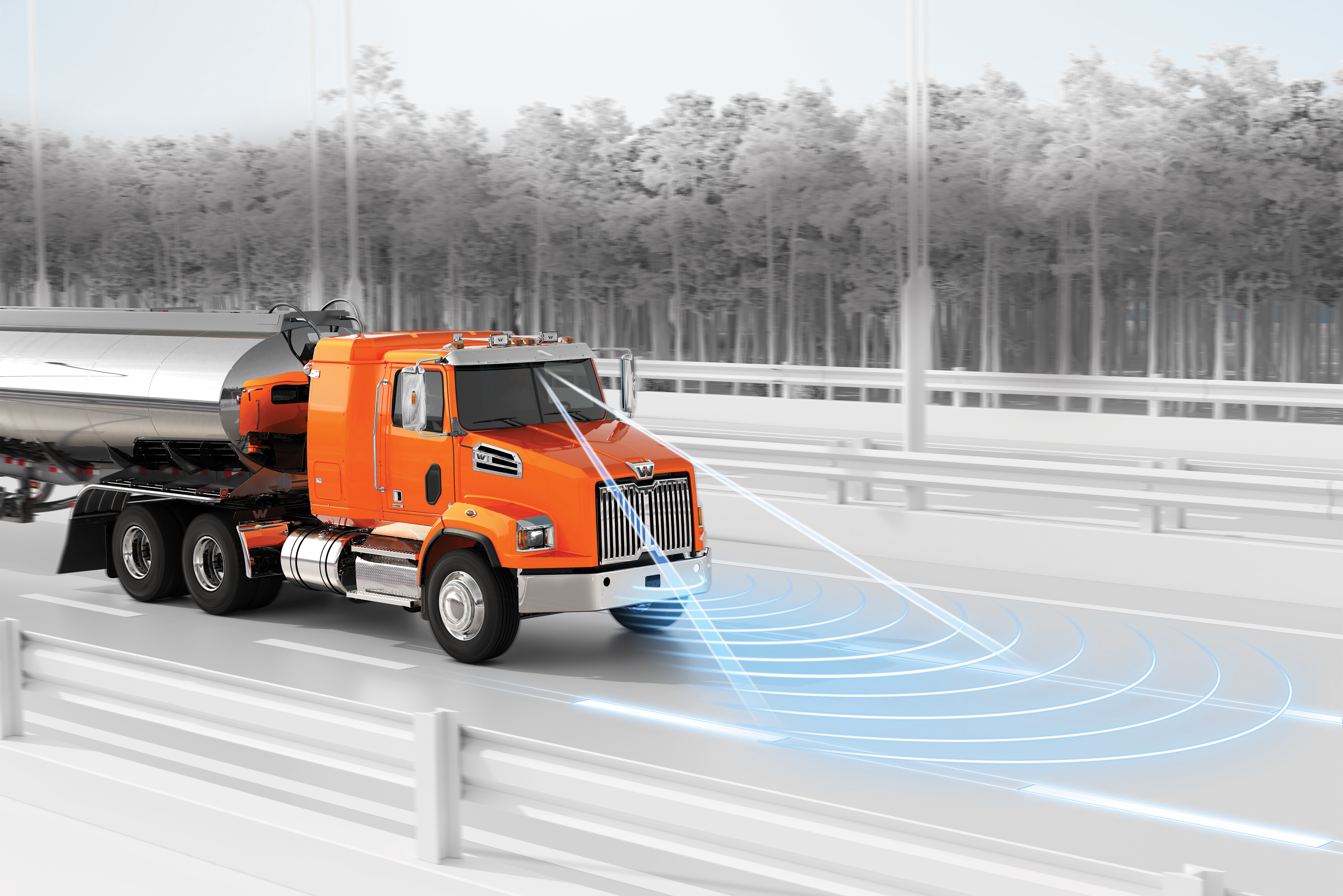 the western star 4700 has more active safety technologies to help keep  drivers and others on the road safer