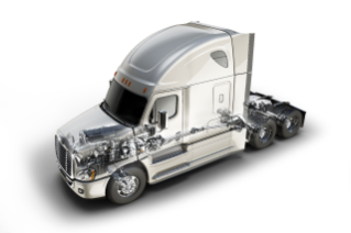 Freightliner Cascadia Evolution Featuring New Integrated Detroit Powertrain