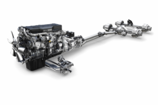 The integrated Detroit Powertrain features the Detroit™ DD15® engine with a new downsped rating, a Detroit™ DT12™ automated manual direct drive transmission and Intelligent Powertrain Management, and Detroit™ front and rear axle